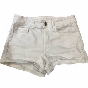 American Eagle High Rise Shortie White size 6